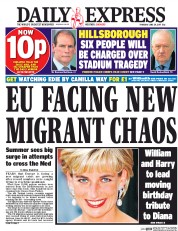 Daily Express (UK) Newspaper Front Page for 29 June 2017