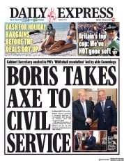 Daily Express front page for 29 June 2020