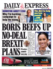Daily Express () Newspaper Front Page for 29 July 2019