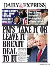 Daily Express (UK) Newspaper Front Page for 2 October 2019