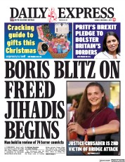 Daily Express () Newspaper Front Page for 2 December 2019