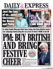 Daily Express front page for 2 December 2020