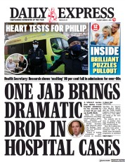 Daily Express front page for 2 March 2021