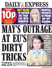 Daily Express (UK) Newspaper Front Page for 2 May 2017