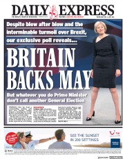 Daily Express (UK) Newspaper Front Page for 2 May 2018