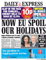 Daily Express (UK) Newspaper Front Page for 2 August 2017