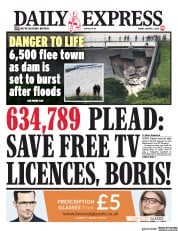 Daily Express (UK) Newspaper Front Page for 2 August 2019