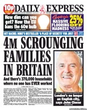 Daily Express (UK) Newspaper Front Page for 2 September 2011