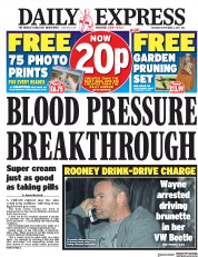 Daily Express (UK) Newspaper Front Page for 2 September 2017