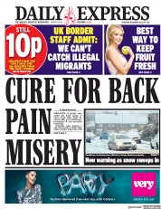 Daily Express (UK) Newspaper Front Page for 30 November 2017