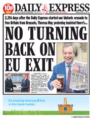 Daily Express (UK) Newspaper Front Page for 30 March 2017