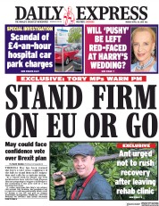 Daily Express (UK) Newspaper Front Page for 30 April 2018