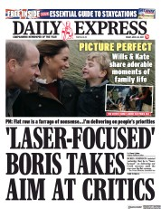 Daily Express front page for 30 April 2021