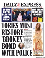 Daily Express (UK) Newspaper Front Page for 30 May 2019