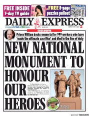 Daily Express front page for 30 May 2020
