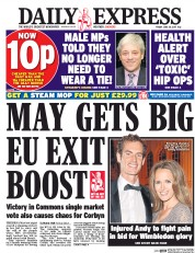 Daily Express (UK) Newspaper Front Page for 30 June 2017