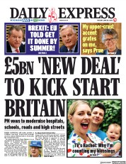 Daily Express front page for 30 June 2020