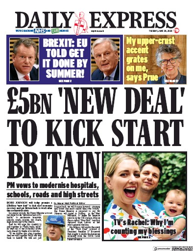 Daily Express Newspaper Front Page (UK) for 30 June 2020