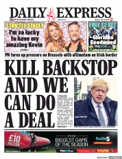 Daily Express (UK) Newspaper Front Page for 30 July 2019