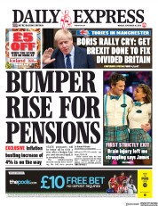Daily Express (UK) Newspaper Front Page for 30 September 2019