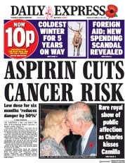 Daily Express (UK) Newspaper Front Page for 31 October 2017