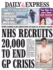 Daily Express (UK) Newspaper Front Page for 31 January 2019