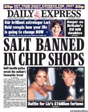 Daily Express Newspaper Front Page (UK) for 31 March 2011