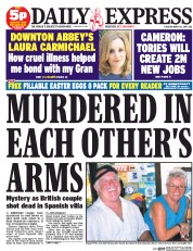 Daily Express (UK) Newspaper Front Page for 31 March 2015