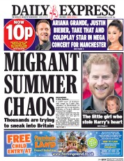 Daily Express (UK) Newspaper Front Page for 31 May 2017