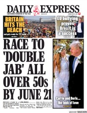 Daily Express () Newspaper Front Page for 31 May 2021