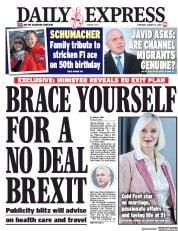 Daily Express (UK) Newspaper Front Page for 3 January 2019