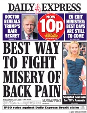 Daily Express (UK) Newspaper Front Page for 3 February 2017
