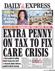 Daily Express front page for 3 June 2020
