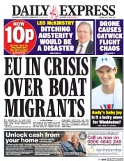 Daily Express (UK) Newspaper Front Page for 3 July 2017