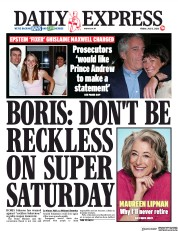 Daily Express front page for 3 July 2020