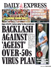 Daily Express front page for 3 August 2020