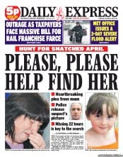 Daily Express Newspaper Front Page (UK) for 4 October 2012