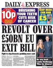 Daily Express (UK) Newspaper Front Page for 4 December 2017