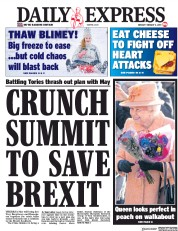 Daily Express () Newspaper Front Page for 4 February 2019