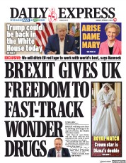 Daily Express front page for 5 October 2020