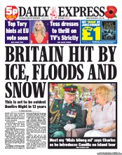 daily express snow headlines for dating
