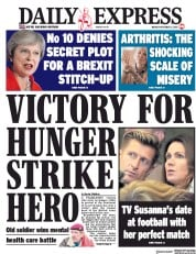 Daily Express (UK) Newspaper Front Page for 5 November 2018