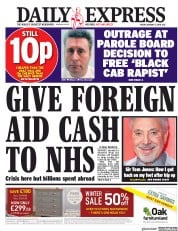 Daily Express (UK) Newspaper Front Page for 5 January 2018