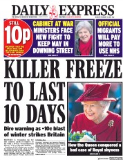 Daily Express (UK) Newspaper Front Page for 5 February 2018