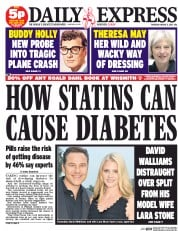 Daily Express (UK) Newspaper Front Page for 5 March 2015