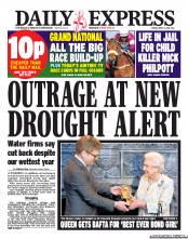 Daily Express (UK) Front Page for 5 April 2013 | Paperboy Online ...