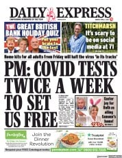 Daily Express () Newspaper Front Page for 5 April 2021