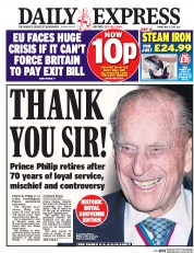 Daily Express (UK) Newspaper Front Page for 5 May 2017