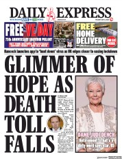 Daily Express (UK) Newspaper Front Page for 5 May 2020