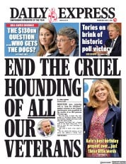 Daily Express front page for 5 May 2021